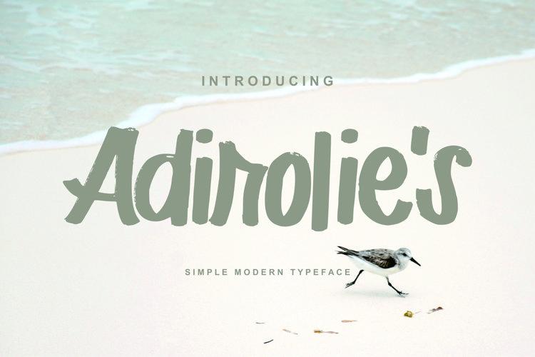 Adirolie's | Simple Modern Typeface Font example image 1