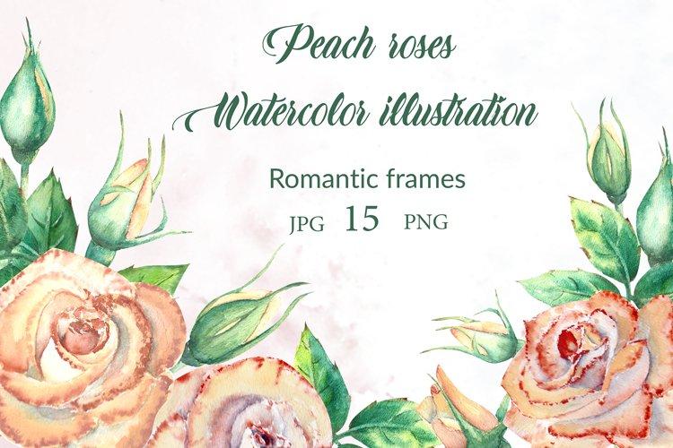 Peach roses! Romantic frames example image 1