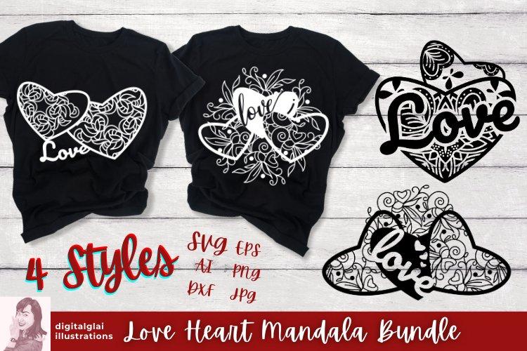 Love Heart Mandala SVG Bundle | Valentine Theme | Cut Files