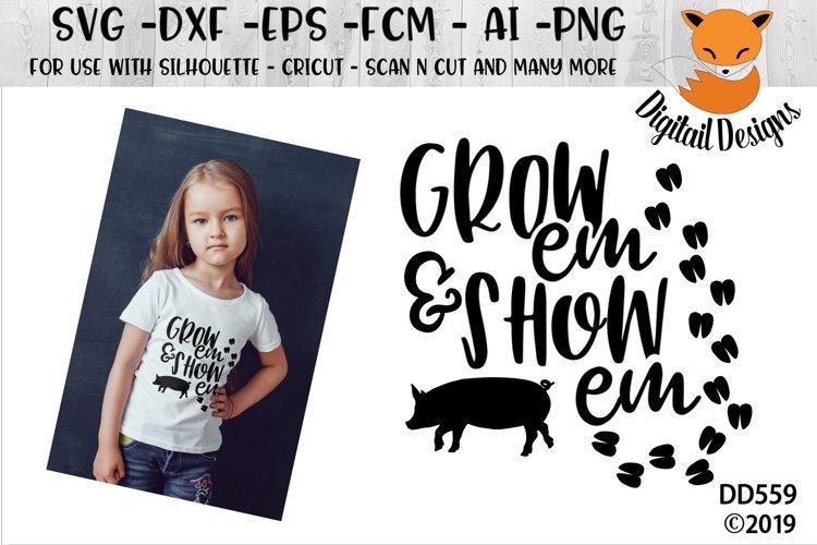Pig Hog Showing SVG - 4H - State Fair SVG