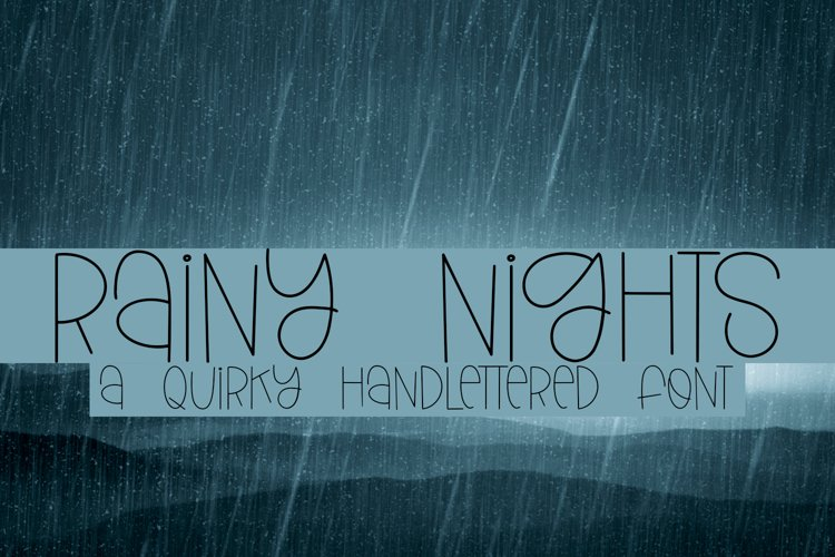 Rainy Nights - A Quirky Handlettered Font example image 1