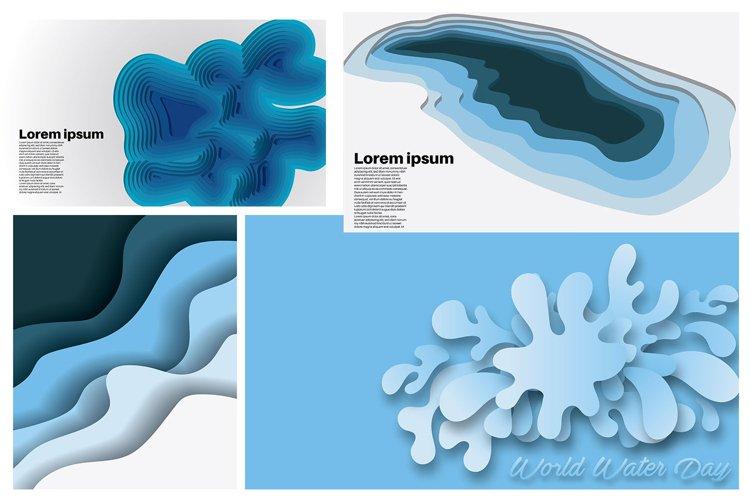 set bundle vector background . wave design illustration example image 1