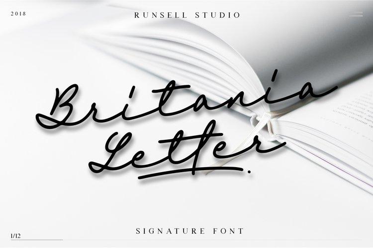 Britania Letter Signature Script example image 1