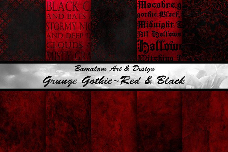 Red & Black Grunge Gothic Backgrounds example image 1