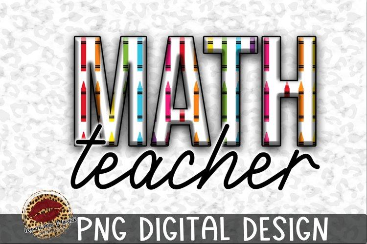 Sublimation Teacher Math Crayon example image 1