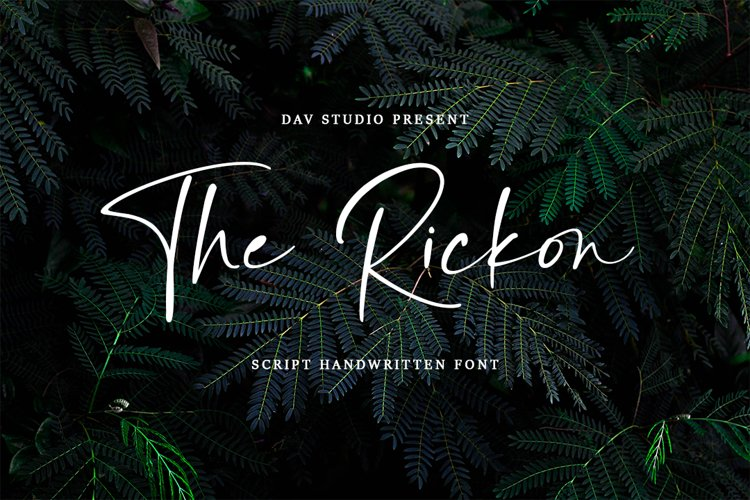 The Rickon - Script Handwritten Font example image 1