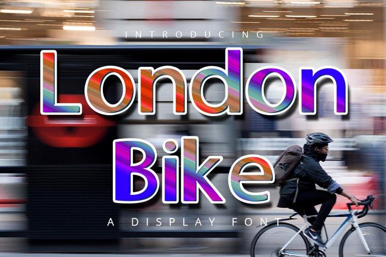 London Bike| Cute Display Typeface Font example image 1