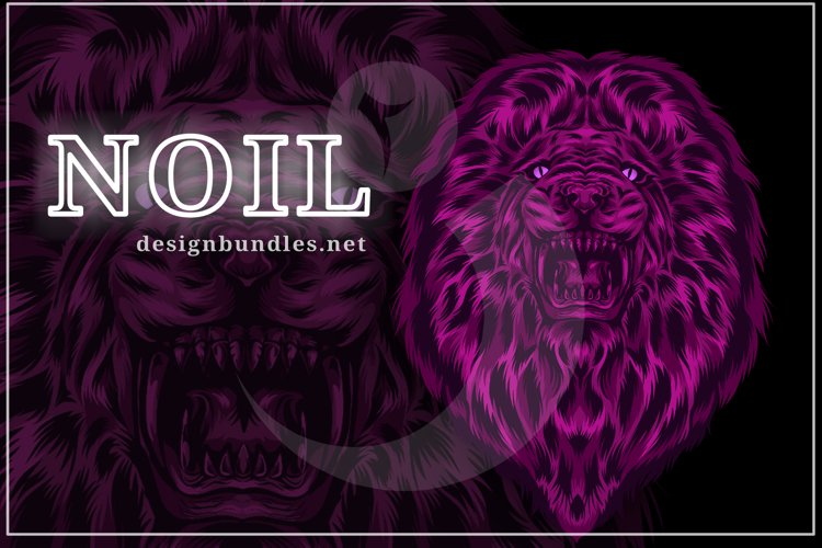 VECTOR ILLUSTRATION OF LION example image 1