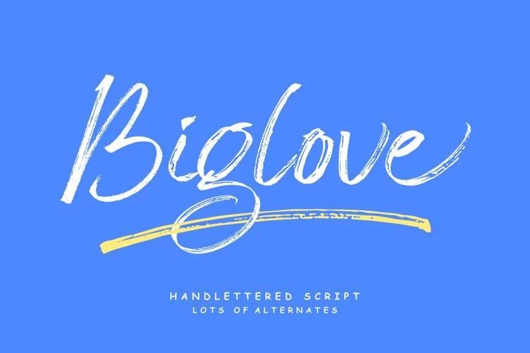 Biglove Brush Font example image 1