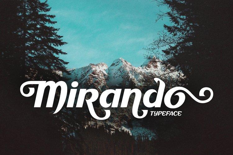 Mirando Sans Serif with alternates