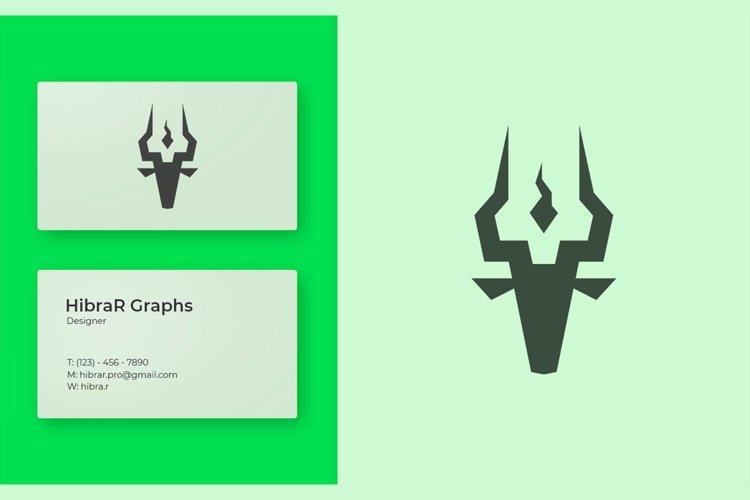 Antelope animal Logo