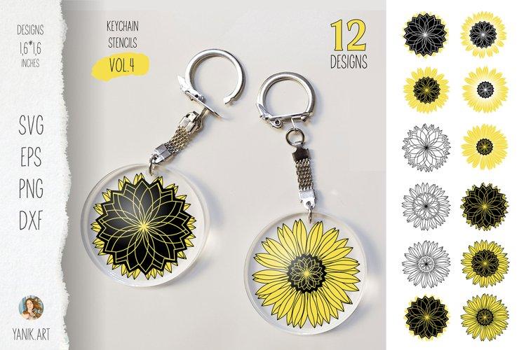 Sunflowers Keychain bundle for custom keychain gift