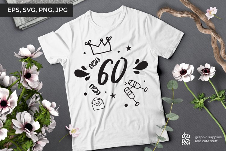 60 | Birthday SVG