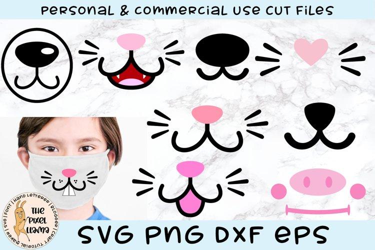 Animal Face Mask Designs SVG
