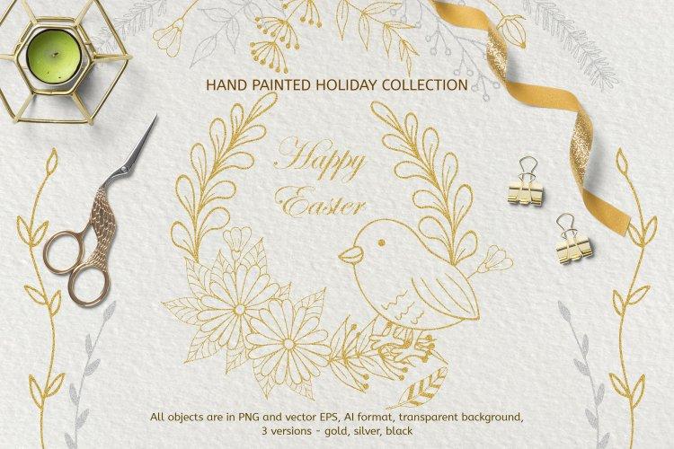 Easter Spring SVG Bundle Design, Clipart SVG, Cutting Files example image 1