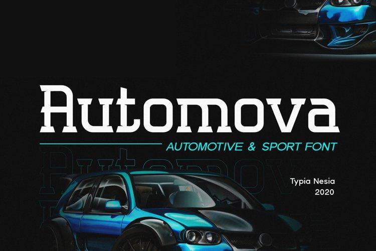 Automova Sport Font example image 1