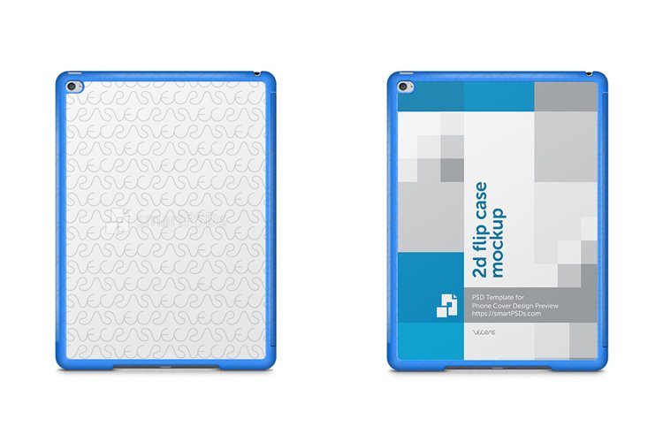 Apple iPad Air 2 2d Tablet Smart Case Design Mockup 2014 example image 1