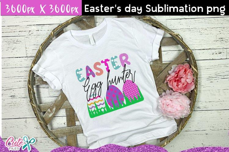 Easter egg hunter Sublimation design example image 1