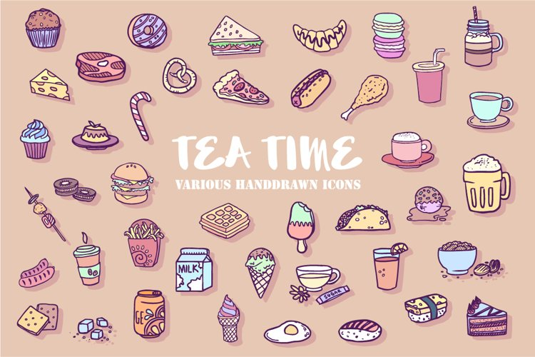 TeaTime Icon Set example image 1