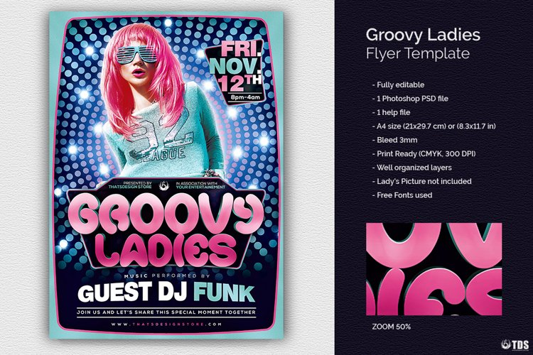 Groovy Ladies Flyer Template