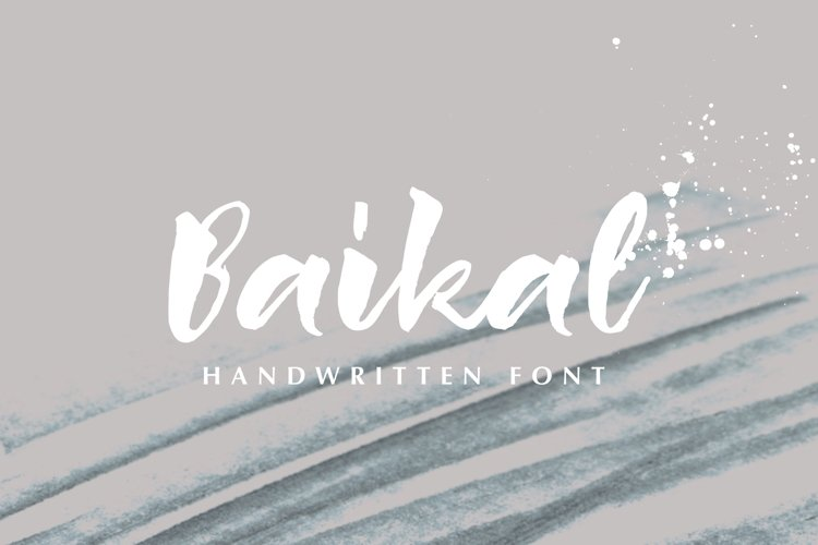 Baikal Handwritten Font with bonus example image 1