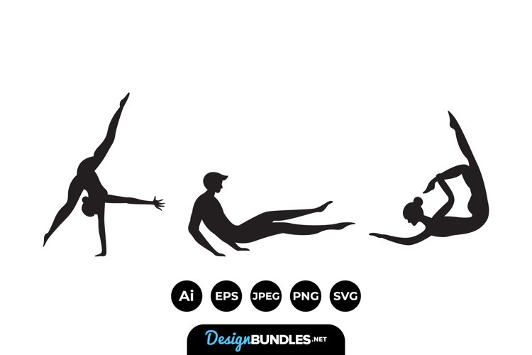 Gymnast Silhouttes example image 1