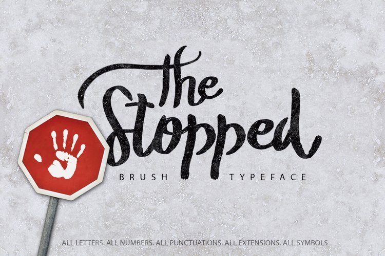 The Stopped Brush Typeface example image 1
