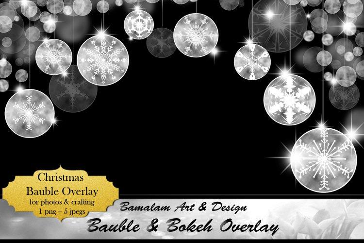 Christmas Bauble & Bokeh Overlay example image 1
