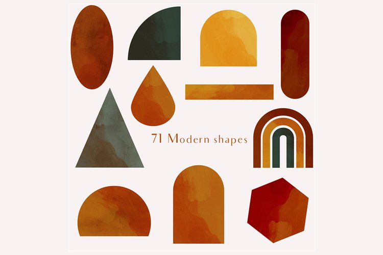 71 Modern shapes clipart illustrations example 2