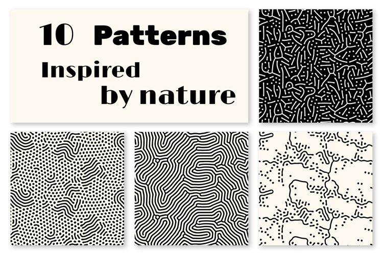 10 Abstract natural seamless patterns