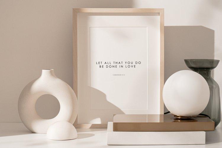 Scripture wall print, Bible verse wall print, Love verse example image 1