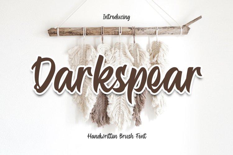 Darkspear - Script Font YR example image 1