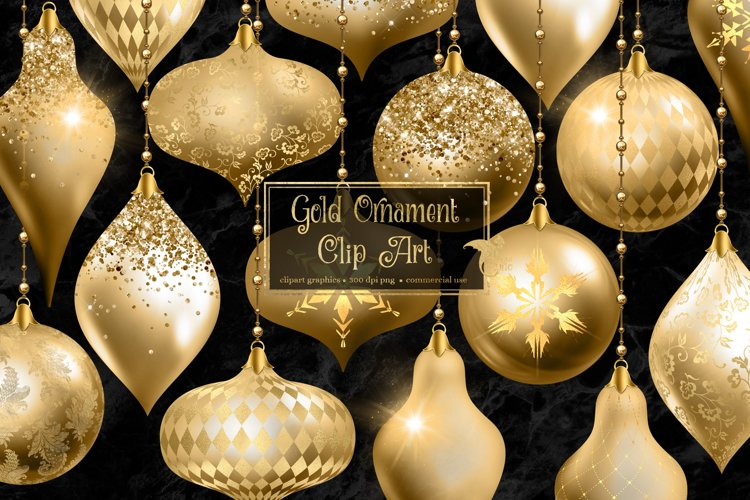 Gold Christmas Ornament Clipart