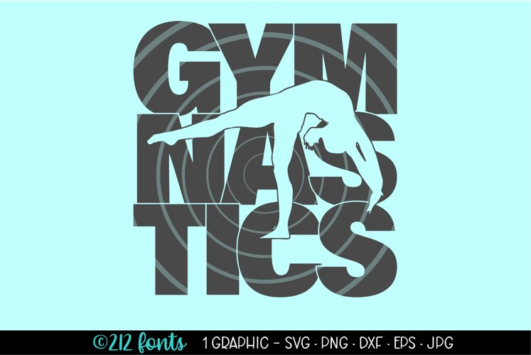 Gymnastics Silhouette Graphic Cut File DXF PNG JPG SVG EPS example image 1