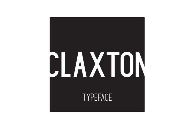 Claxton Typeface example image 1