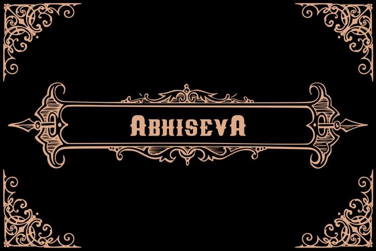 Abhiseva old calligraphy example image 1