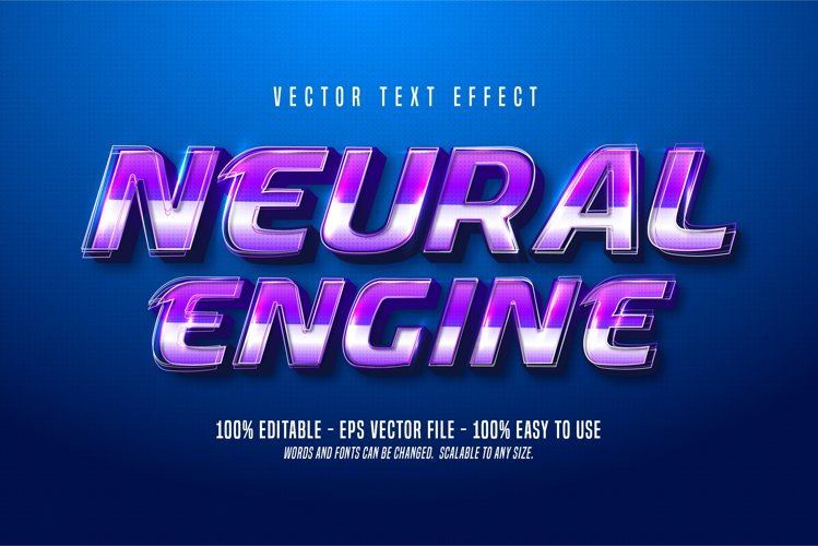 Neural Engine text, technologic style editable text effect example image 1