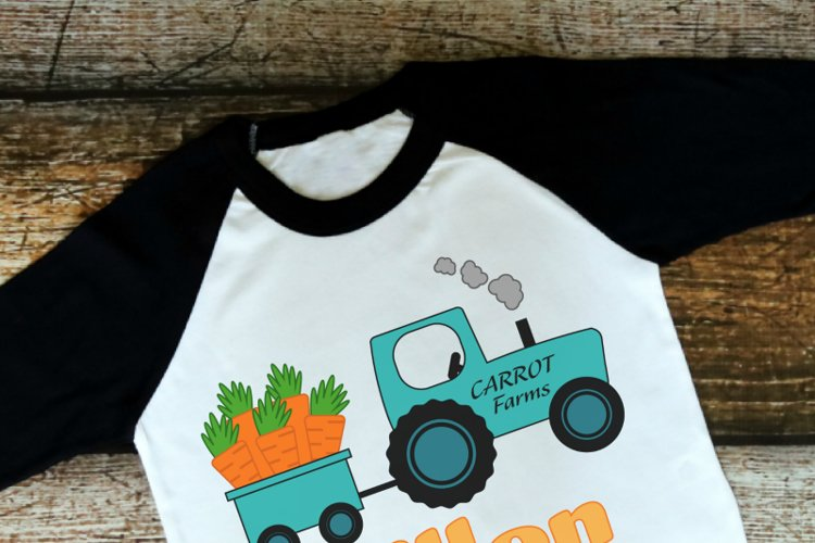 Easter Tractor SVG example image 1