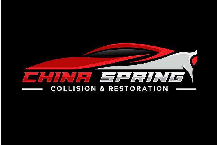 red sport car logo design silhouette example image 1