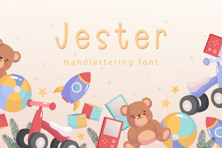 Jester - Handwritting font example image 1
