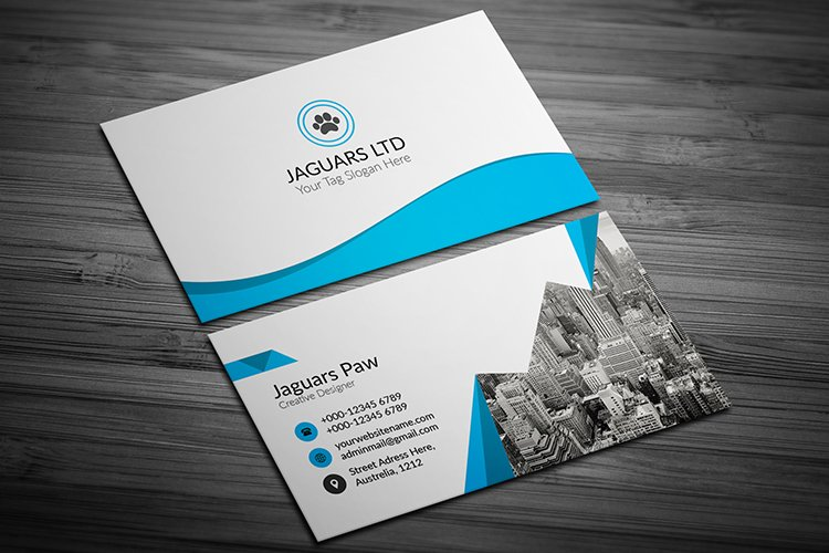 Modern Business Card Template Design example image 1