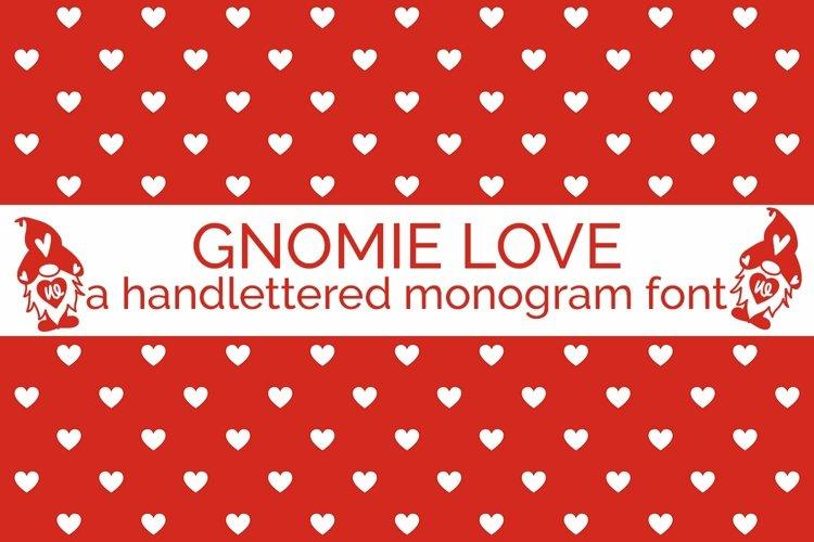 Web Font Gnomie Love - A Valentine's Day Monogram Font example image 1