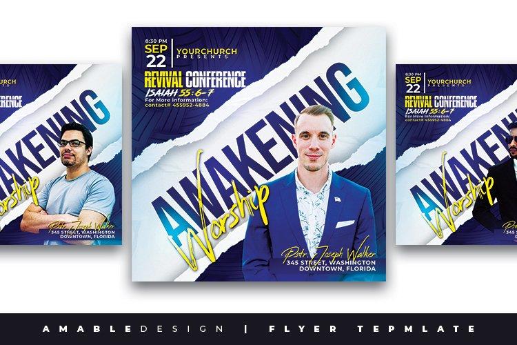 Awakening Worship Church Flyer example image 1
