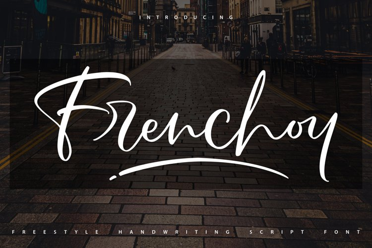 Frenchoy | Handwriting Script Font example image 1