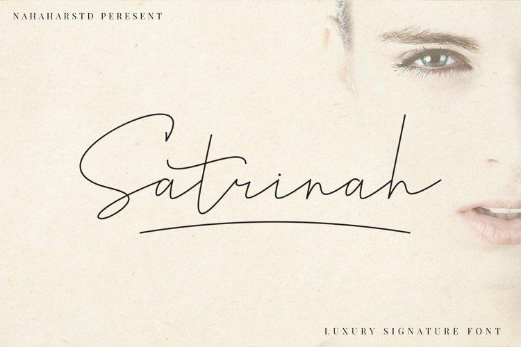 Satrinah - Signature Font example image 1
