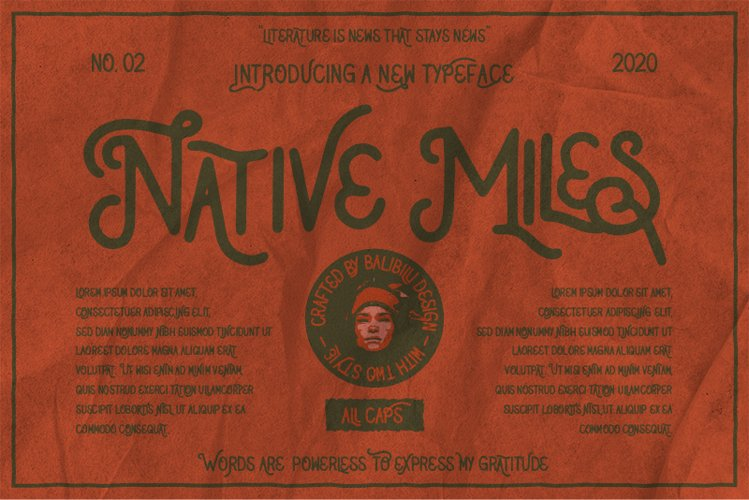 Native Miles - Vintage Font example image 1