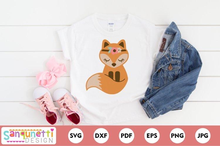 Boho Fox SVG woodland design for girls