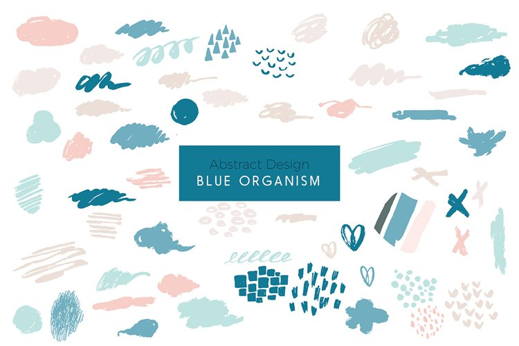 Blue Organism-Abstract Art Patterns example image 1