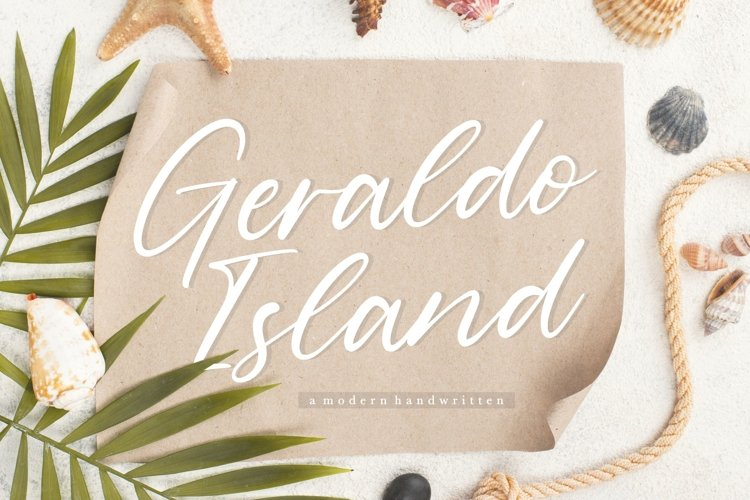 Geraldo Island Modern Handwritten Font example image 1