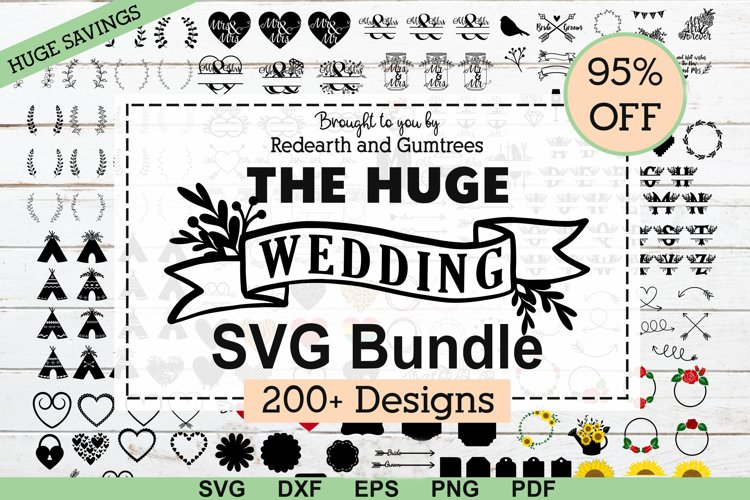 The Huge Wedding,newlyweds,decor elements SVG,DXF,PNG bundle